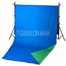 Двухсторонний тканевый фон хромакей GreenBean Field 240 х 700 B/G