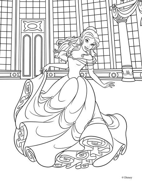 Раскраска принцессы диснея раскрашивать