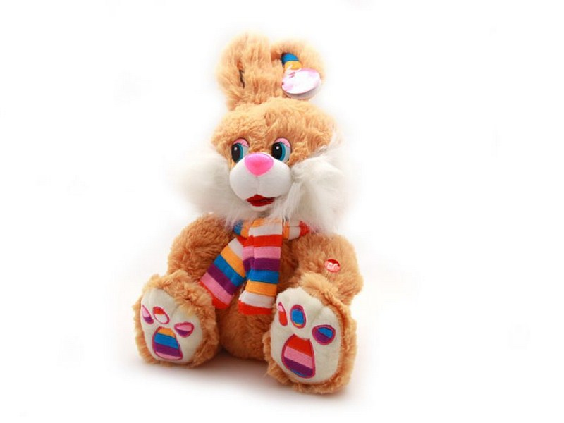 "КнопкаМаркет.Ru - Мягкая игрушка ""Заяц в ярком шарфе"", 50 см"